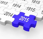 2015 Puzzle Piece Shows New Year's Festivities And Celebrations